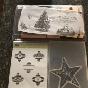 Set of 3 assorted Stampin' Up stamps